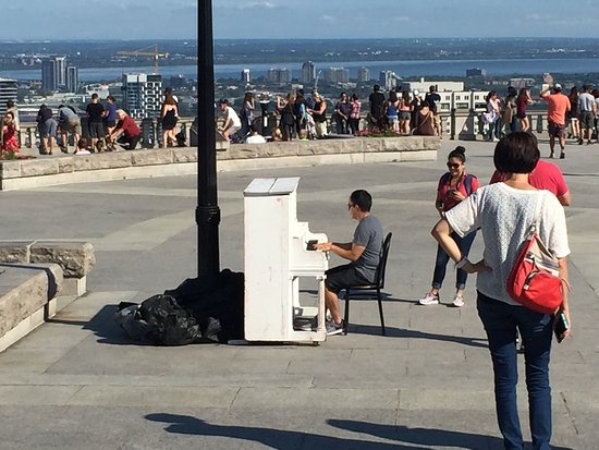 The best view of Montreal. Please play the public piano if you find it here!