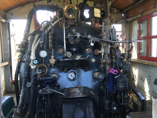 Stettler, Canada : onboard the actual 1920 steam train