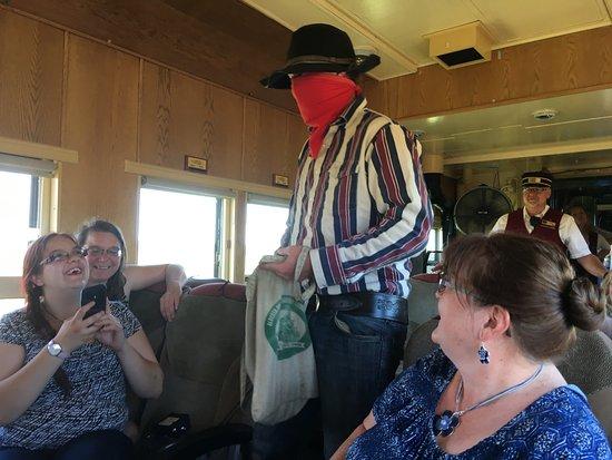 Stettler, Canada : train robbery