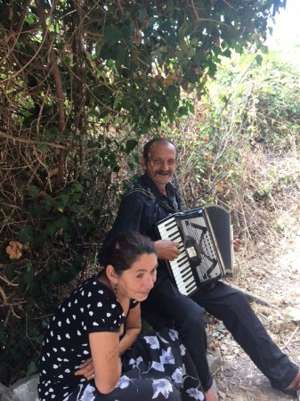 Cinque Terre Trails: Loved them. Great opportunists. Give them a few coins, it's lovely to hear them play.
