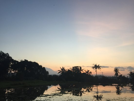 The Chedi Club Tanah Gajah, Ubud, Bali – a GHM hotel: Sunrise from the grounds.