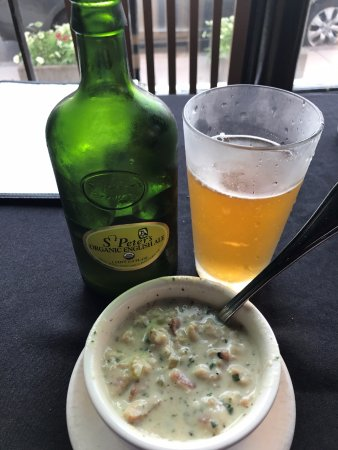 Clam Chowder and Old English Ale