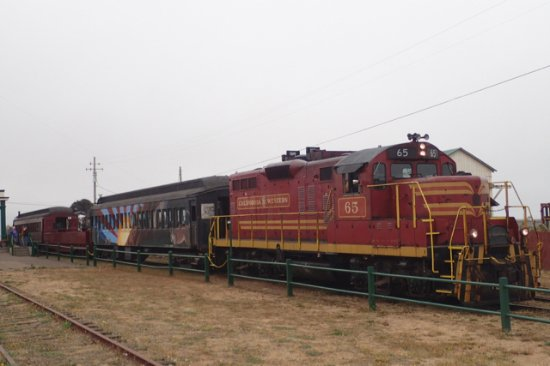 Skunk Train: Train consisted of locomotive and three cars