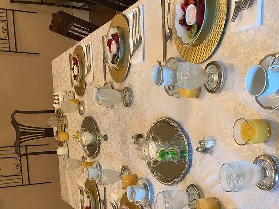 Jefferson, TX: An appetizer starts the breakfast culinary journey.