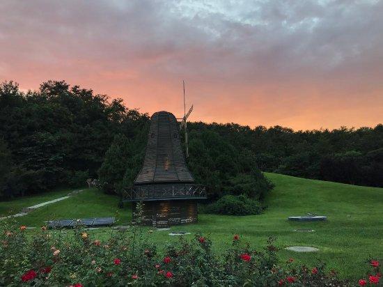 City Council Kuangou Guest House: 西式的大風車及草坪