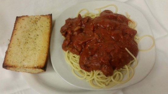 Jackson, WI: Spaghetti W/ Meat Sauce GB & Salad