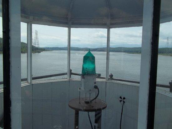 The Hudson-Athens Lighthouse: Lens in Lantern Room