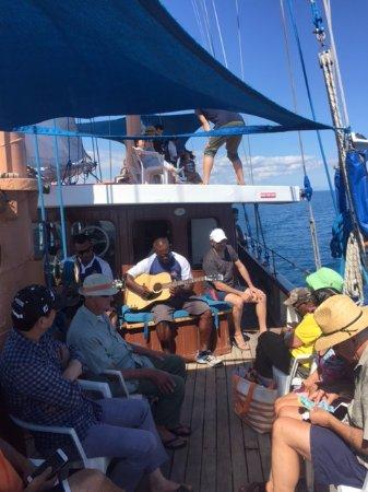 Denarau Island, Fiyi: Fijian harmony and songs were terrific - the whole trip!