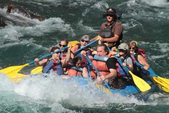 West Glacier, MT: Bonecrusher Rapids Tossed 2 in the water!  :)