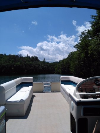 Almond, NC: Pontoon from Prince Boat Dock