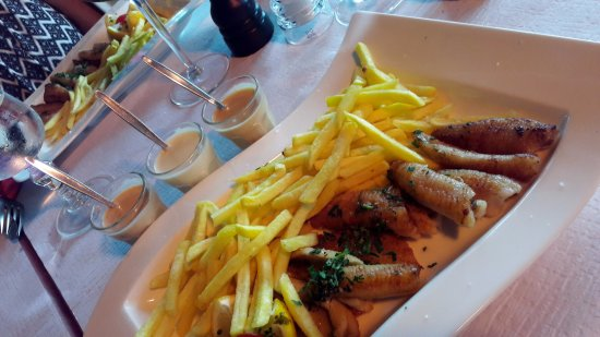 Bar & Restaurant Plage du Reposoir: filet de perches 3 sauces