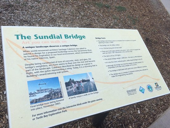 Sundial Bridge: A landmark bridge designed by world-renowned architect Antonio Calatrava