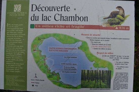 Plan du lac - Picture of Yelloh! Village Le Pre Bas, Chambon-sur-Lac ...