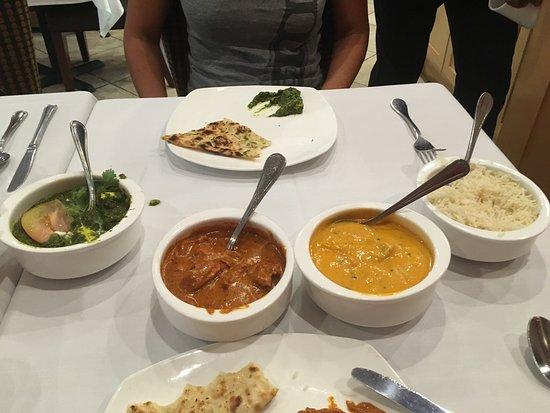 San Mateo, CA: Really tasty Saag Paneer and Goan Curry Fish. Loved the garlic naan.