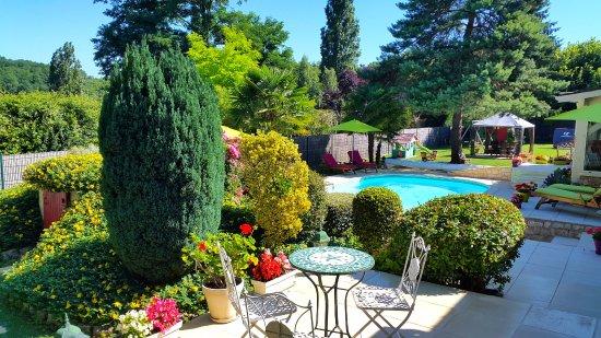 Siorac-en-Périgord, Frankrig: Terrasse de la chambre Puits d'Amour