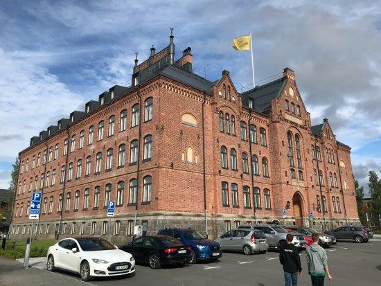 Umeå, Szwecja: Hotel front.