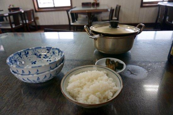 Asahi-machi, Japan: タラ汁とライス