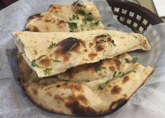 Garlic naan bread mantra indian cuisine - Mantra indian cuisine ...
