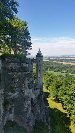 Koenigstein, Germany: Aussicht von der Festung Königsstein