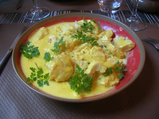 Hennebont, France : Poulet au curry façon Thaï