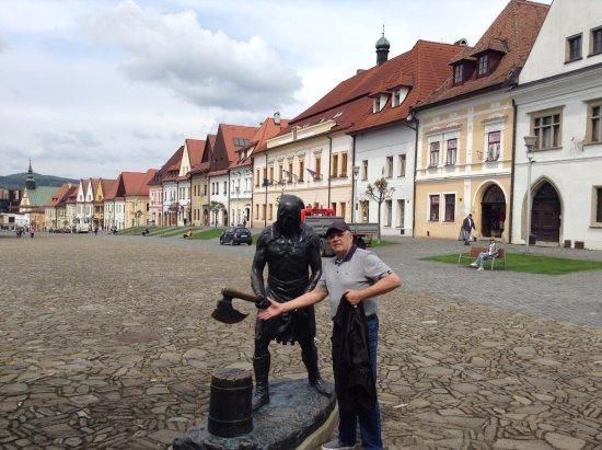 a1e304730 Bronzová socha kata - Radničné námestie Bardejov - Picture of Bronze ...