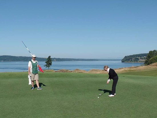 University Place, WA: The views of Puget Sound are terrific, almost distracting from the golf