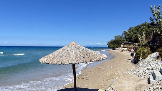 Tragaki, Greece: Beach View