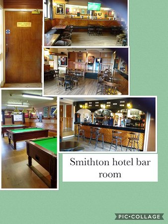 Smithton Hotel: This is a selection of photos of the bar who's is very big ,there is,darts,pool ,tv,and can be h