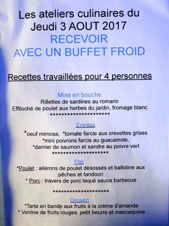 """Au Petit Bruxelles: """" Et voici ce que l'on a réussi à nous faire préparer !!! Merci aux CHEFs """""""