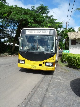 Our bus- going anticlockwise