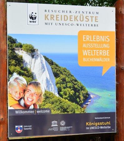 Nationalpark-Zentrum Koenigsstuhl: Plansza powitalna.