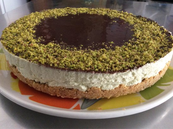 Ristorante Pizzeria Calipso : Cheesecake pistacchio e cioccolato una vera delizia!