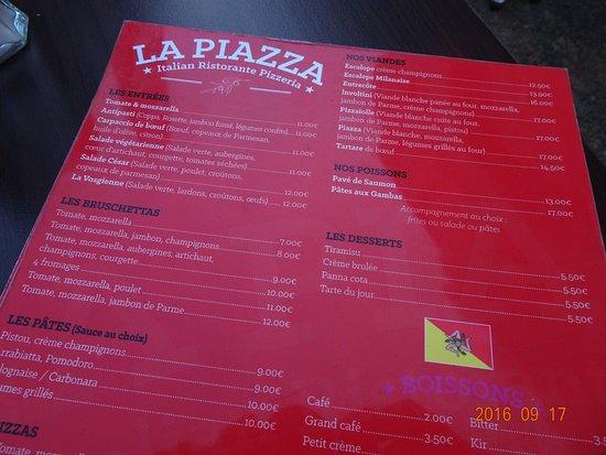 La piazza metz 17 place de chambre restaurant avis - Numero de telephone de la chambre des commerces ...