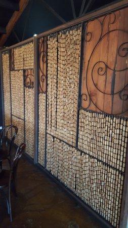 Yarra Glen, Australia: Cork wall