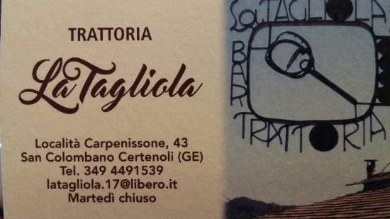 San Colombano Certenoli, Ιταλία: La Tagliola