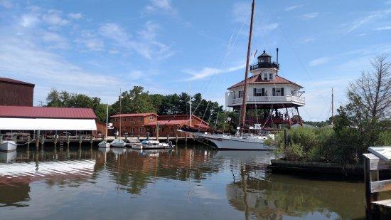 Solomons, MD : Drum Point lighhouse and CMM harbor