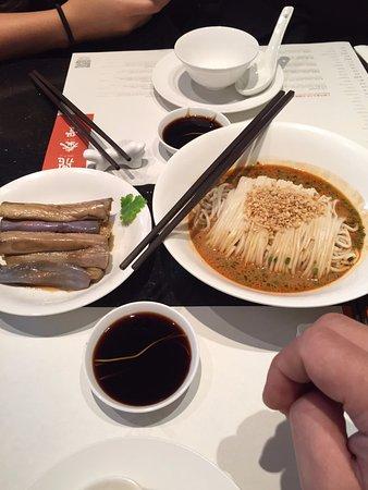 Din Tai Fung (Nanjing West Road): Dan Dan Noodles and Eggplant