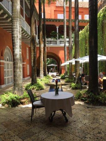 Casa Pestagua Hotel Boutique, Spa: autour de la fontaine