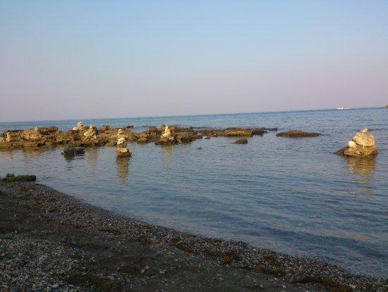 Mandomata Nudist Beach: Stapled rocks