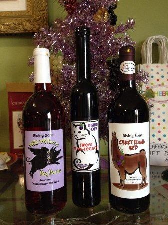 """ลอว์เรนซ์เบิร์ก, เคนตั๊กกี้: Our """"BARNYARD COLLECTION"""" of wine.  Each label has a story!"""