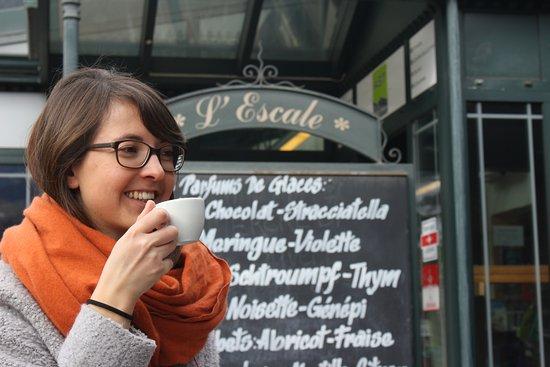 Hotel Restaurant L'Escale : Café en terrasse