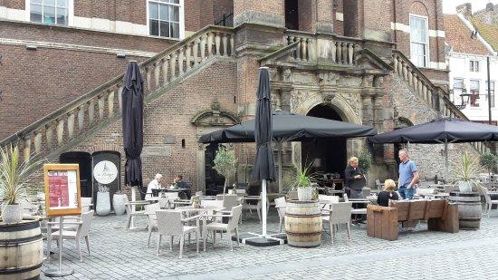 Wijnhuistoren : terrace is of the Spanish tapas restaurant La Bodega