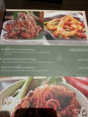 Seribu Rasa: menu