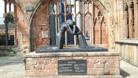 """Coventry, UK: """"Reconcilliation"""", in the ruins."""