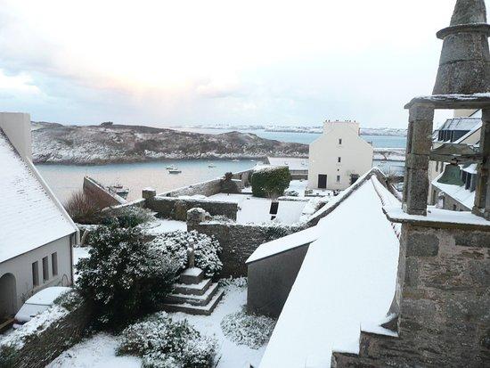 Le Conquet, France: Dom Michel sous la neige