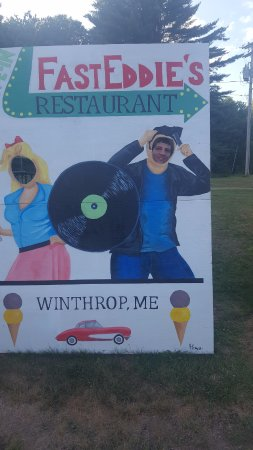 Winthrop, ME: Picture Sign