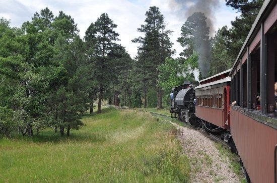Hill City, Южная Дакота: riding the train