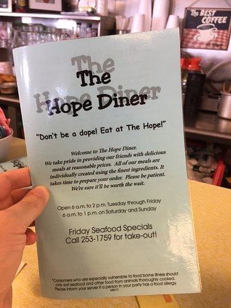 """Bristol, Rhode Island: """"Don't be a dope! Eat at the Hope!"""" :)"""