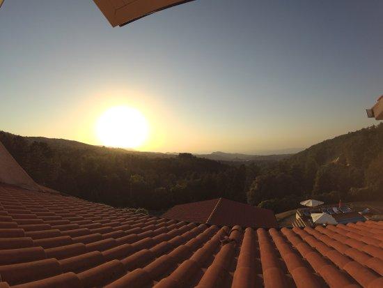 Arcidosso, Italy: il tramonto dalla nostra camera