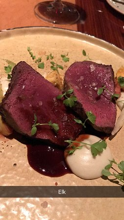 Jiko - The Cooking Place: Elk Loin . . . classy dish